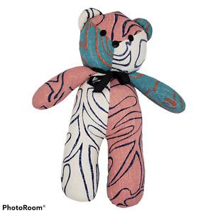 Reyn Spooner Teddy Bear plush Original And Authentic Hawaiin Fabric patchwork