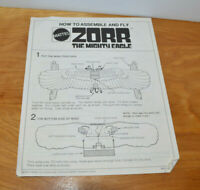 VINTAGE ZORR THE MIGHTY EAGLE TOY INSTRUCTIONS BOOKLET MATTEL 1972