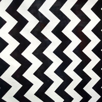 "Black and White CHEVRON PRINT Fabric Poly cotton 60"" HALLOWEEN ZIGZAG FABRIC"