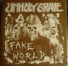 "Unholy Grave - Fake World 7"" E.P.(2014)ARCHAGATHUS BUTCHER ABC MASSGRAVE PHLEGM"
