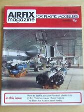 AIRFIX MAGAZINE JUL 1974 VACUUM FORMED PLASTIC KITS THUNDERSTREAK PHOTO FEATURE