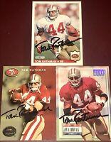 Tom Rathman Nebraska Cornhuskers NFL signed football card auto autograph LOT X3!