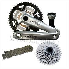 Shimano Deore 9 Speed Crank Bundle 175mm 44T Silver, Chain, 11/34 Cassette Deal