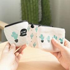 Porte-monnaie femmes enfants portable la toile cactus magnifique nouveau durable