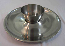 Mid Century Modern appitizer tray and bowl Stainless Steel Denmark