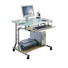 SixBros. Computerschreibtisch Büro Schreibtisch Glas Ahorn Optik CT-3791A/41