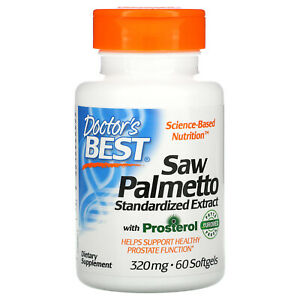 Saw Palmetto, Standardized Extract with Prosterol, 320 mg, 60 Softgels