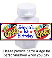 30 UNO Playing Cards Game Birthday Party Baby Shower Mini Bubbles Stickers