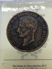 Regno delle due Sicilie Francesco II di Borbone 10 Tornesi 1859 NAPOLI mb