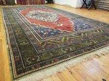 """Beautiful Vintage 1950-1960's Natural Dye Wool Pile Avshar Rug 6'7"""" x 12'"""