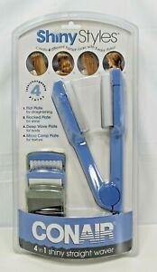 Conair Shiny Styles 4 in 1 Flat Iron Waver Straightener Crimper