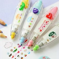 Love Heart Press Correction Tape Decorative Pen Diary Stationery School Supplies