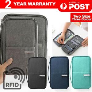 Waterproof Passport Holder Travel Document Wallet RFID Bag Family Case Organizer