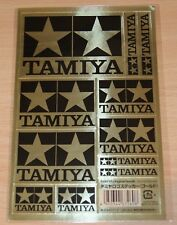 Tamiya 67260 Tamiya Logo Stickers Gold (Black & Gold), NIP