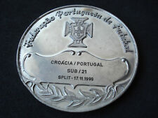 Portugese Football Fed., Croatia - Portugal commemorative medal, 1999, Split