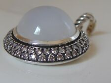 $2250 DAVID YURMAN SS  LARGE MELANGE MOONSTONE DIAMOND ENHANCER
