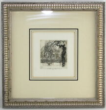 "Luigi Kasimir  ""Hietzing"" Estate Signed Aquatint Etching Framed"