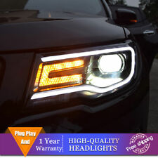 For Jeep Compass Headlights Double Lens Beam Projector HID LED DRL 2018-2020
