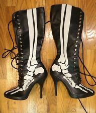 "Funtasma XRay-220 boots skeleton Goth 4.5"" heels halloween punk gothic horror 10"