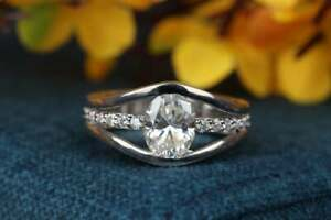 14K WHIITE GOLD BRILLIANT ENGAGEMENT WEDDING WOMEN'S RING 1.76 CT VVS1 DIAMOND