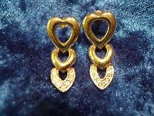 beautiful,big earrings / Stud_hearts_gold plated___Pierre Lang___