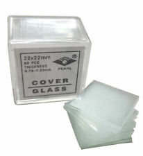 Microscope Cover Slips, Size #2 Thickness, 22mm by 22mm, Pack of 800