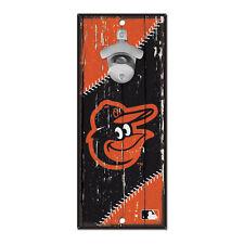 Baltimore Orioles Hardboard Wood Bottle Opener Sign 5x11
