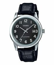 CASIO MTP-VS01L-1B1 BLACK LEATHER WATCH FOR MEN - COD + FREE SHIPPING