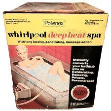 Vintage Whirlpool Pollenex Deep Heat Bath Spa Portable Bubble Massage Wb710H