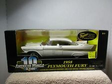 1/18 SCALE AMERICAN MUSCLE 10 YEARS WHITE 1958 PLYMOUTH FURY #2