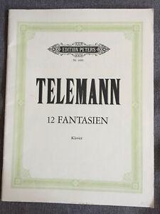 G. Ph. Telemann 12 Fantasien für Klavier Cembalo Edition Peters