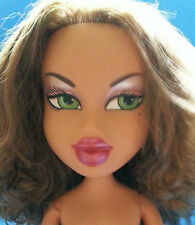 "Bratz Large Big 24"" YASMIN Green Eyes Curly Brunette Hair Doll 2003 - Nude"