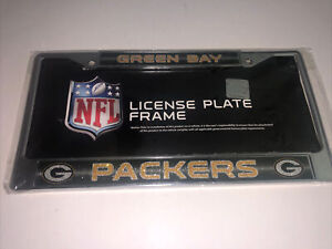 Green Bay Packers EZ View Chrome Frame Metal License Plate Tag Cover Football