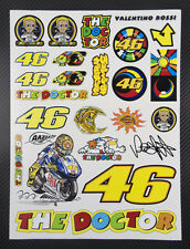 Rossi Vale The Doctor 46 Aufkleber blatt Laminiert stickers Moto GP yamaha m1