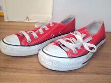 Converse All Star Lo Top de rojo, tamaño 3/35