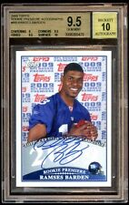 BGS 9.5 *10* RAMSES BARDEN 2009 TOPPS RC PREMIERE AUTO SP  PACK PULL AUTHETNIC
