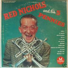 """RED NICHOLS AND HIS 5 PENNIES"" LP 1957 JAZZ"