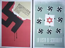 SCHLINDER'S LIST / 2 Original Cuban Silkscreen Movie Tribute Posters / CUBA ART