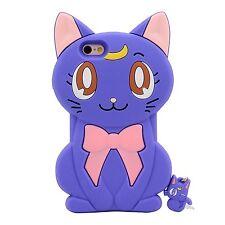 Sailor Moon Crystal Luna Cat Kawaii Purple Protective Case for Apple iPhone 6/6S