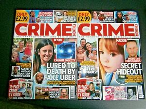 2 Crime Monthly Magazines Issue Issue 30 September & October 31  (new) 2021