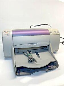 HP Deskjet 952C Standard Inkjet Printer tested working violet gray