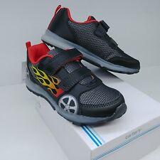 Carter's Fun 2-B Racing Wheels Flames Toddler Shoes Black Light Up - Choose Size