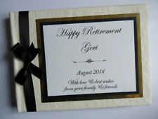 PERSONALISED RETIREMENT / BIRTHDAY GUEST BOOK / SCRAPBOOK - ANY COLOUR