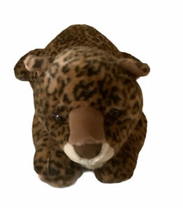 """Aurora Super Large Plush Cat Leopard """"Luther""""  Rare 28"""" Body, 36"""" To End Of Tail"""