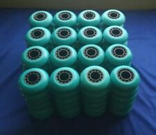 Lot of 96 Rollerblade Inline Fitness Hockey Skate Wheels 70mm 82A (Teal)