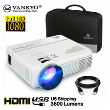 Vankyo Leisure 3 1080P Projector Fhd Video Movie Home Theater Ps4 Hdmi Vga Tf Av