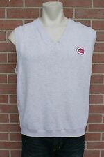 Mens XL Light gray/Tan MLB Cincinnati REDS Baseball Vest Cutter & Buck