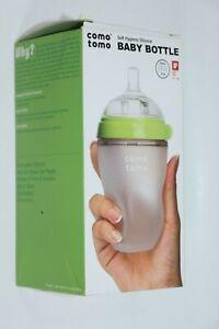 COMOTOMO SOFT HYGENIC SILICONE BABY FEEDING BOTTLE BPA FREE 250ml/8fl oz NEW