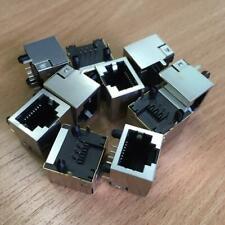10Pcs RJ45 Network Ethernet 8P 8C Female Socket Connectors PCB Mount H0A8 E N7E8