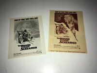 HOUSE THAT SCREAMED Movie Promo Ad Sheet & Art Photo 1971 AIP Horror Poster